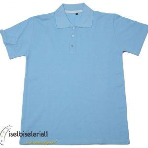 1. kalite Polo yaka tişört Açık Mavi