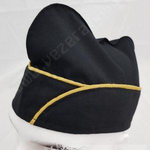 Aşçı Kepi Siyah Sarı Biyeli