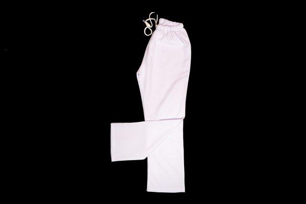 Beyaz Lastikli Pantalon