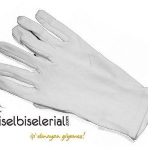 Beyaz Polyester Servisci Eldiven