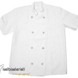 Beyaz Sade Aşçı Ceketi