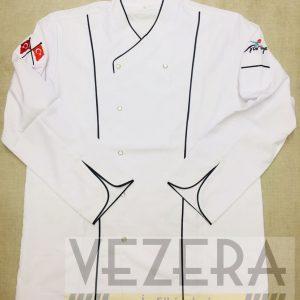Beyaz Siyah Aşçı Ceketi