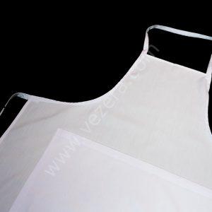 Beyaz cepli Askılı Önlük