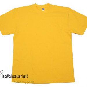 Bisiklet Yaka Tişört - sarı