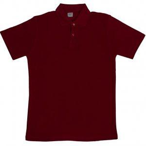 Bordo Polo Yaka Tshirt 1. Kalite