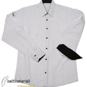 Cafe Gömleği Nakışlı Beyaz