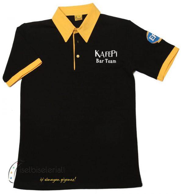 Gömlek Yaka Tişört - Nakışlı