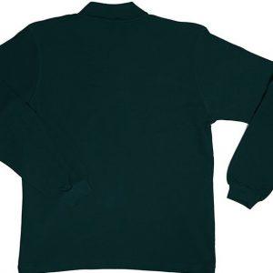 Koyu Yeşil Uzun Kol Polo Yaka Tişört 1. Kalite
