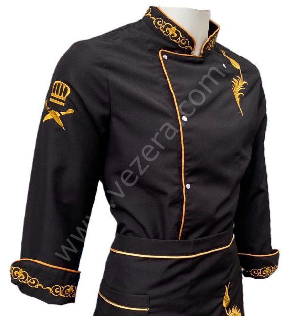Lale Nakışlı Aşçı Ceketi