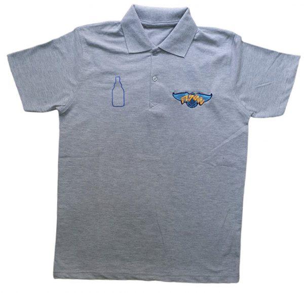 Nakışlı Gri iş Tişörtü
