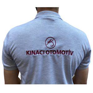 Nakışlı GriNakışlı Gri iş Tişörtü Ön ve Arka iş Tişörtü Ön ve Arka
