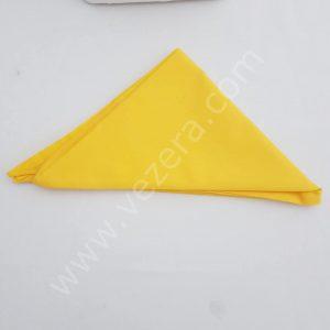 Sarı Üçgen Aşçı Bandana (fular)