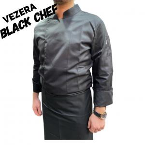 Siyah Gabardin Aşçı Ceketi