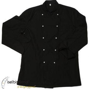 Siyah Sade Aşçı Ceketi