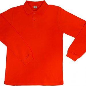 Turuncu Uzun Kol Polo yaka Tişört 1. Kalite