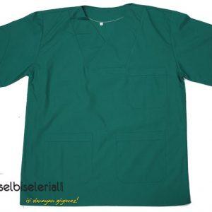 Yeşil V Yaka Doktor Önlüğü